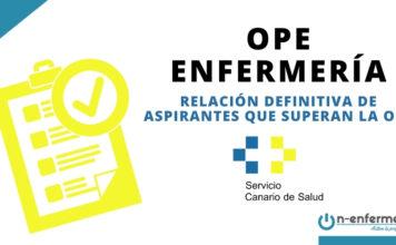 Relación de aspirantes que superan la OPE Enfermería Canarias 2016-2018