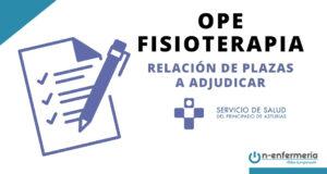 Relación de plazas OPE Fisioterapia Asturias 2017