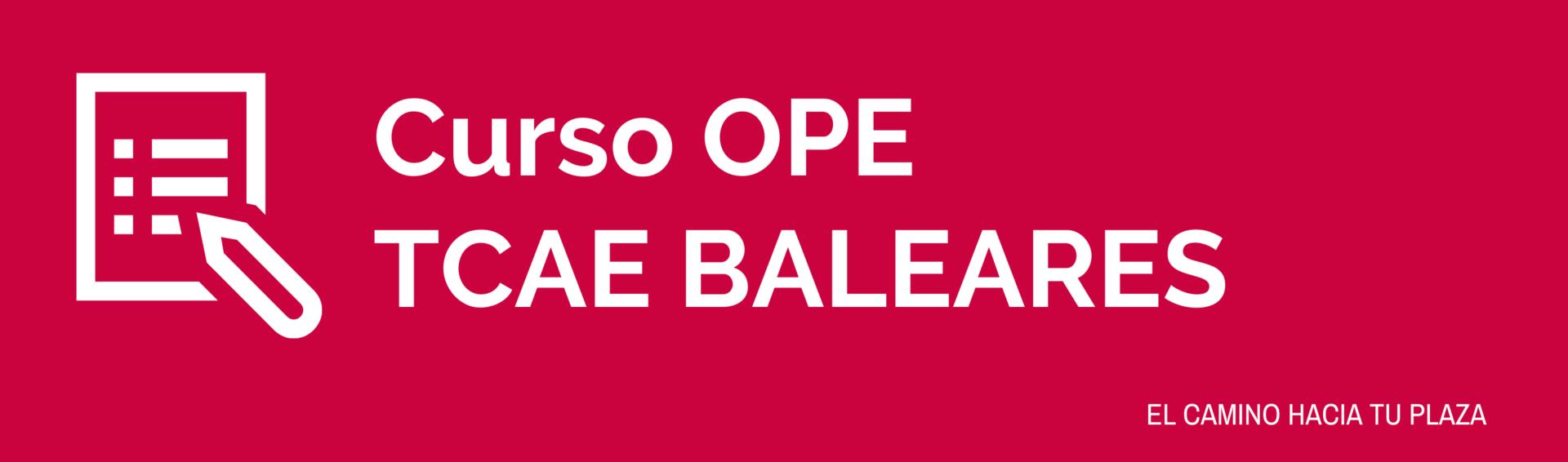 Cabecera curso OPE TCAE Baleares