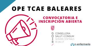 Convocatoria OPE TCAE Baleares 2017-2020