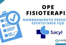 Nombramiento personal estatutario fijo OPE Fisioterapia SACYL 2017
