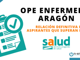 Relación de aspirantes que superan la OPE Enfermería Aragón 2018