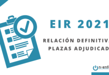 Relación definitiva de plazas adjudicadas EIR 2021