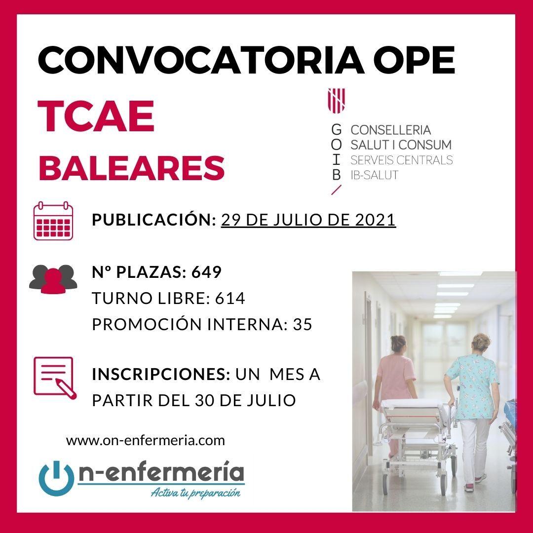 TARJETA CONVOCATORIA OPE TCAE BALEARES 2017-2020
