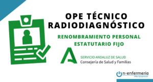 Renombramiento personal estatutario fijo OPE Técnico Radiodiagnóstico SAS 2016