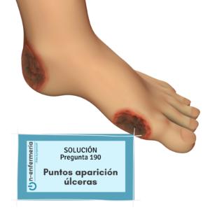 Solución nº190 Enfermería - Puntos aparición de úlceras