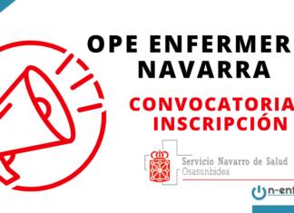 Inscripción convocatoria OPE Enfermería Navarra