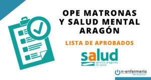 Lista aprobados Matronas 2018-2020 y Salud Mental 2017-2020 Aragón
