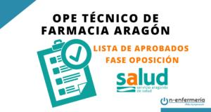 Lista aprobados OPE Técnico de Farmacia Aragón 2018-2019