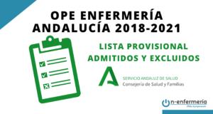 Lista provisional de admitidos y excluidos OPE Enfermería Andalucía 2018-2021