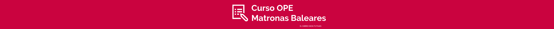 Pie de página - Curso OPE Matronas Baleares