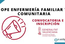 Convocatoria OPE Enfermería Familiar y Comunitaria Comunidad Valenciana 2017
