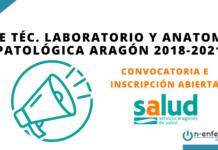 Convocatoria OPE Técnico Laboratorio y Anatomía Patológica Aragón 2018-2021