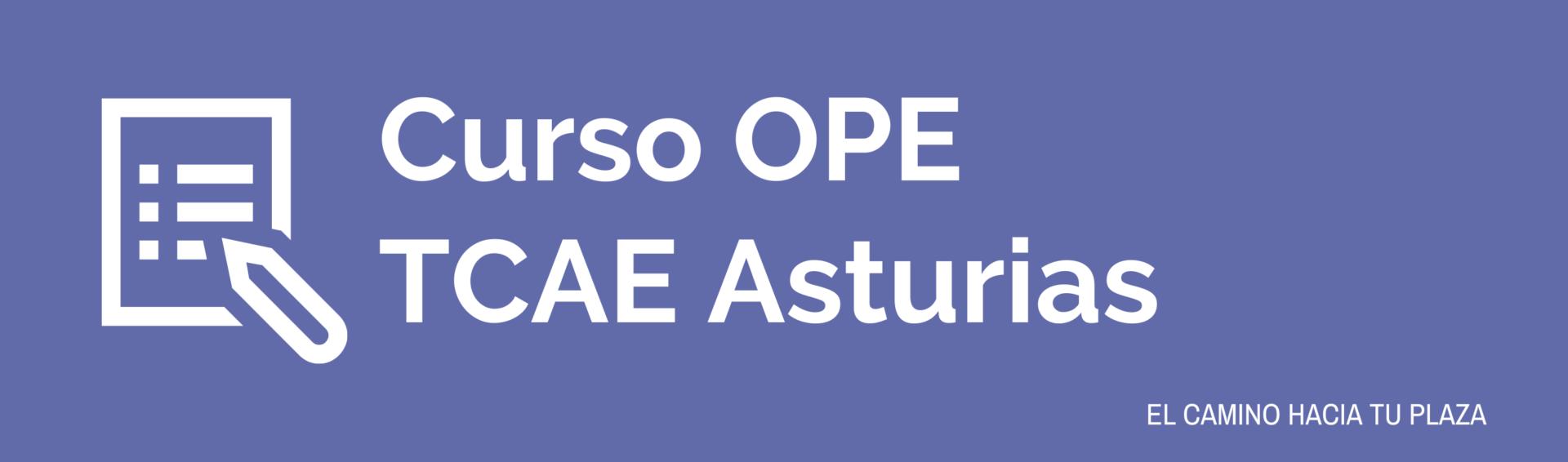 Curso OPE TCAE Asturias