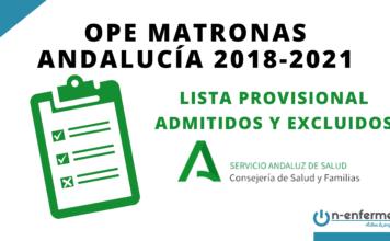 Listas provisionales de admitidos y excluidos OPE Matronas Andalucía 2018-2021