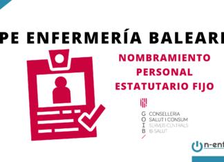 Nombramiento personal estatutario fijo OPE Enfermería Baleares 2015-2017