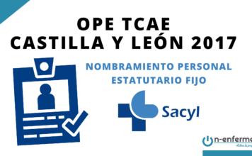 Nombramiento personal estatutario fijo OPE TCAE Castilla y León 2017