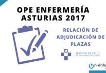 Relación de adjudicación de plazas OPE Enfermería Asturias 2017