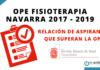 Relación de aspirantes que superan la OPE Fisioterapia Navarra 2017-2019