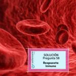 Solución examen OPE TCAE Nº58 Respuesta inmune - Problemas de inmunidad y sanguíneos