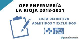 convocatoria OPE Enfermería La Rioja