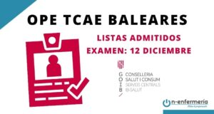 listas provisionales OPE TCAE Baleares