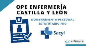 nombramiento estatutario fijo enfermería SACYL